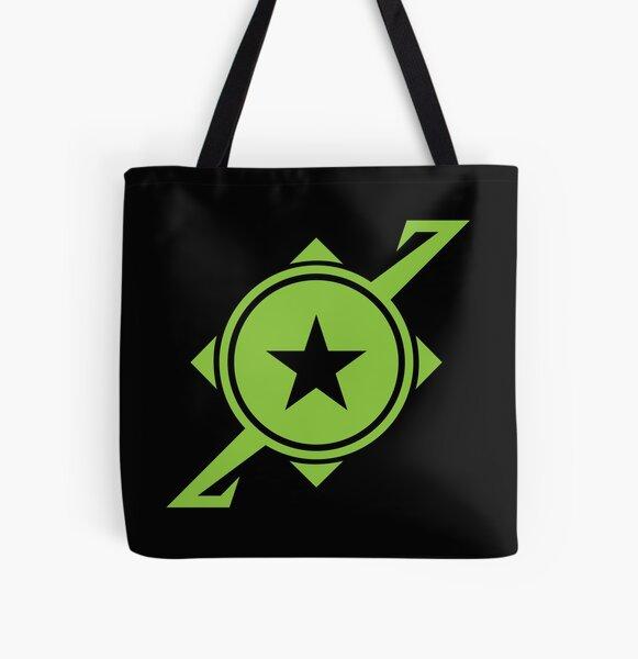 Galaxina Planet Logo - Lime Green All Over Print Tote Bag