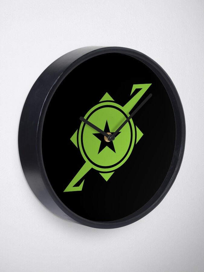Alternate view of Galaxina Planet Logo - Lime Green Clock