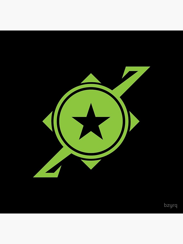 Galaxina Planet Logo - Lime Green by bzyrq