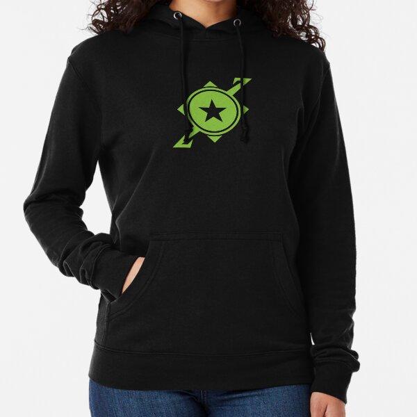 Galaxina Planet Logo - Lime Green Lightweight Hoodie