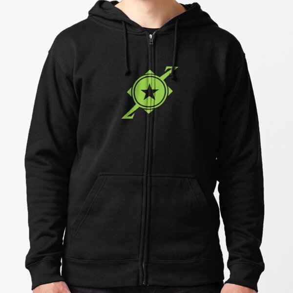 Galaxina Planet Logo - Lime Green Zipped Hoodie