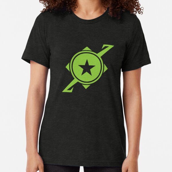 Galaxina Planet Logo - Lime Green Tri-blend T-Shirt