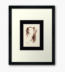 Huntington Gardens Plein Air Bamboo Drawing #1 Framed Print