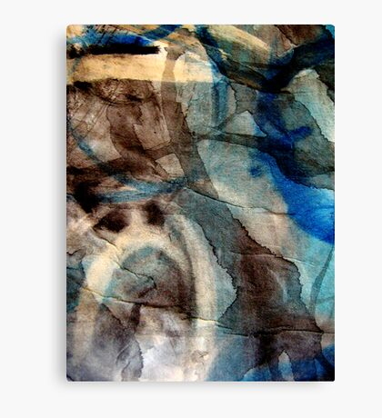blue veins of time Canvas Print