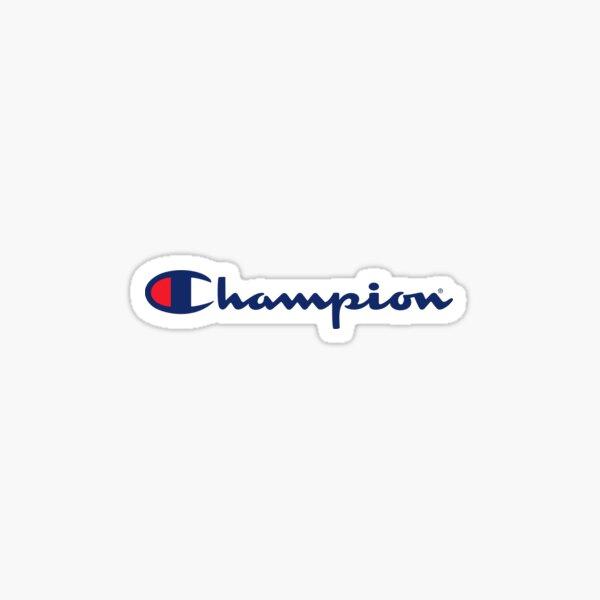 Champion Logo Sticker