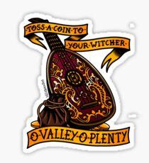 O Valley Of Plenty Sticker