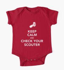 Keep Calm & Check Your Scouter Baby Body Kurzarm