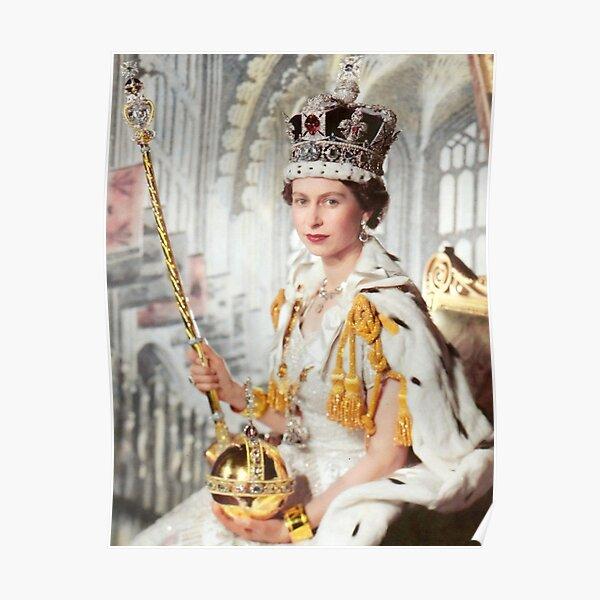 Queen Elizabeth Crown Jewels Poster
