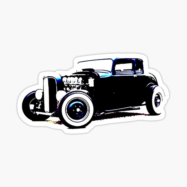 1932 Ford Deuce 5 Window Coupe 30 No Background  Sticker