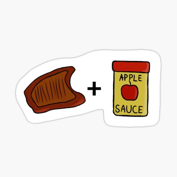 Pork chops & Applesauce Sticker Sticker