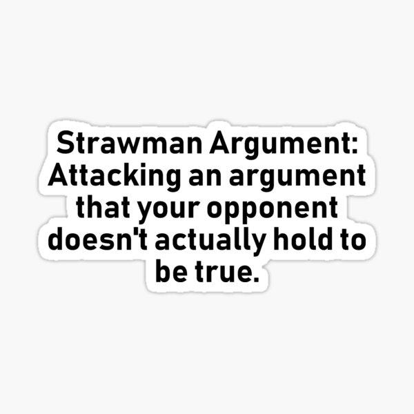 Strawman Argument Sticker