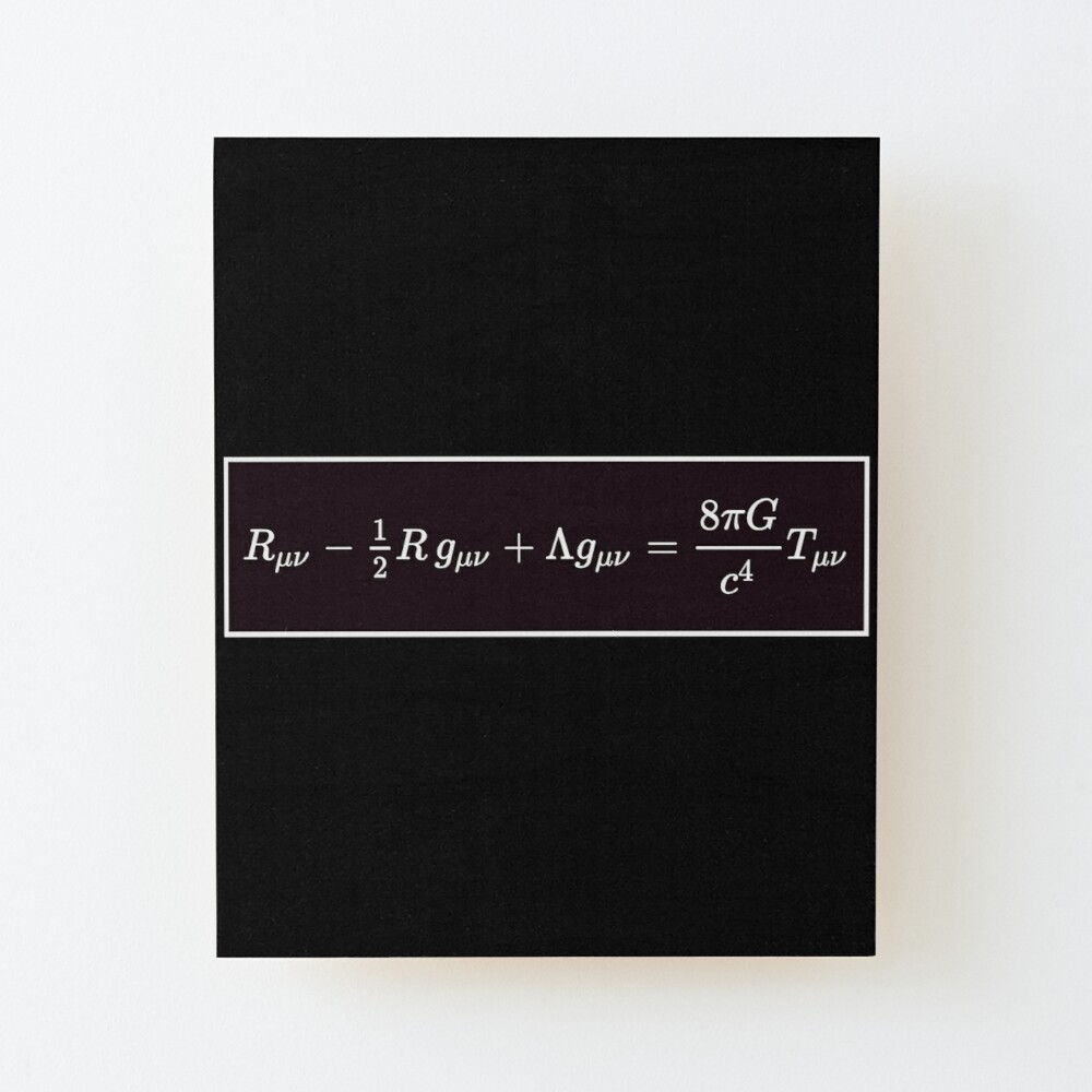 Einstein Field Equations, ur,mounted_print_wood_portrait_small_front,square,1000x1000