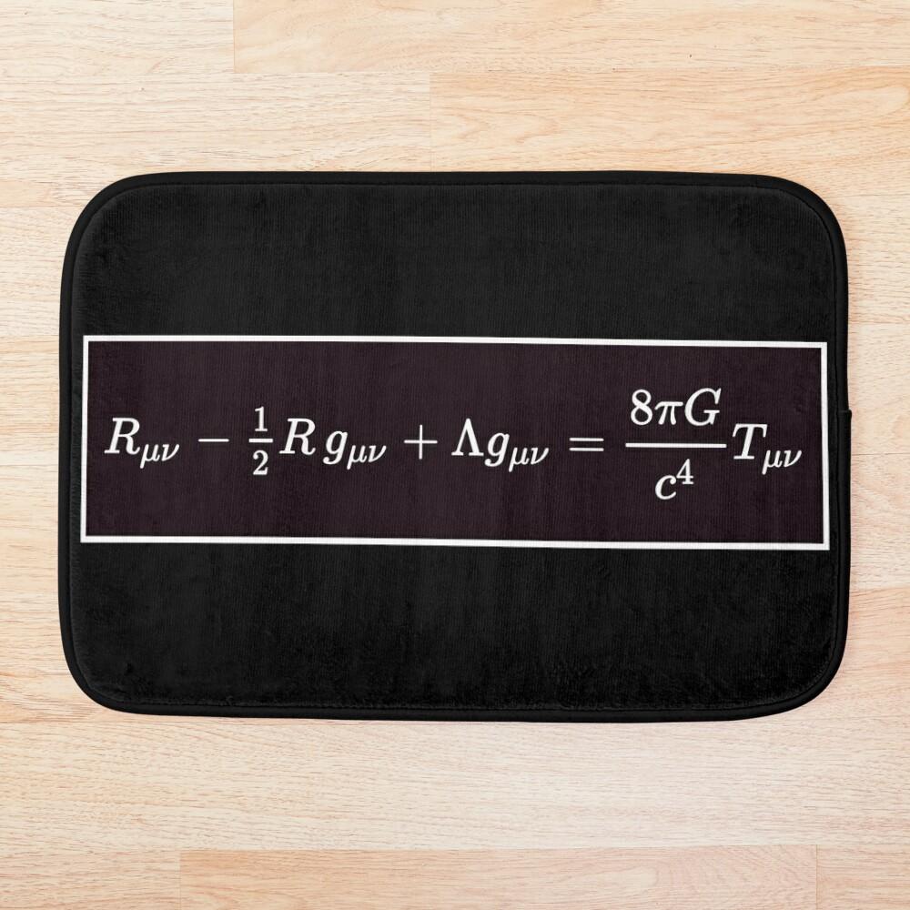 Einstein Field Equations, ur,bathmat_flatlay_small,square,1000x1000