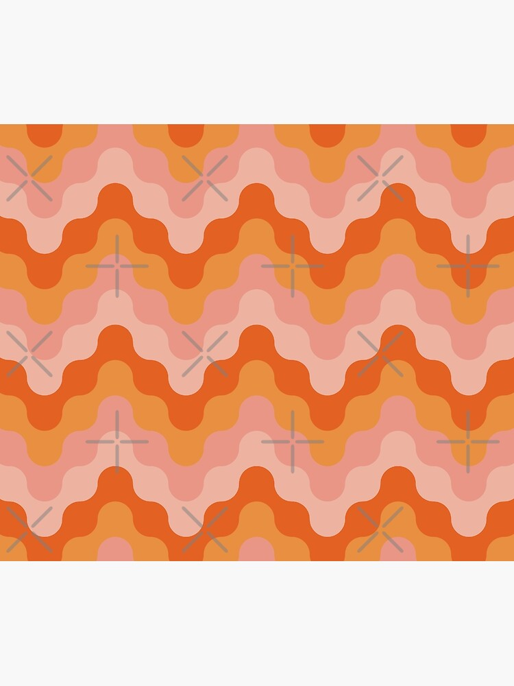 Colored zigzags (pink and orange) by lents