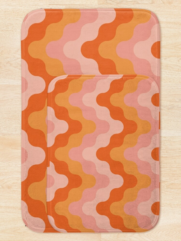 Alternate view of Colored zigzags (pink and orange) Bath Mat