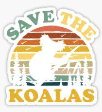 Save The Koalas Vintage Retro Sticker