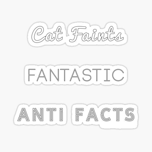Fantastic Cat Faints Sticker