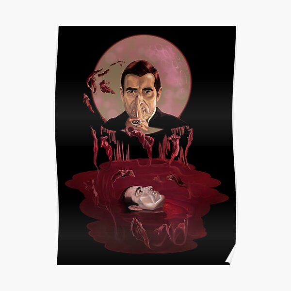 Red Floating Dracula  Poster