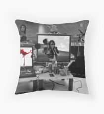 Office Cubicle Throw Pillow