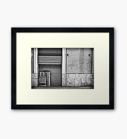 Crates Framed Print