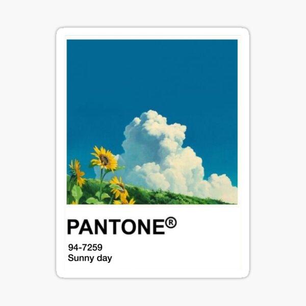 Pantone Kawaii Anime Sticker