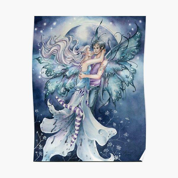 Fairy Fay Faery Mermaid Fantasy Art by Janna Prosvirina Poster