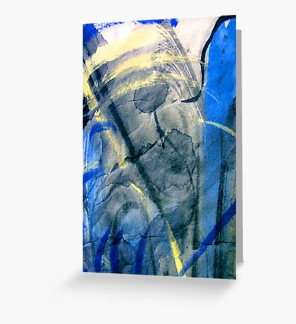 blue spaces... not much else Greeting Card