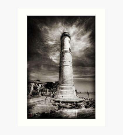 In the Shadow of the Lighthouse Art Print