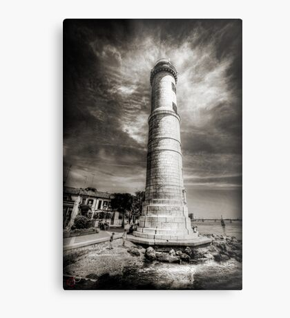 In the Shadow of the Lighthouse Metal Print