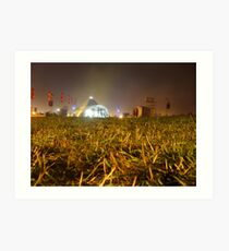 Pyramid Stage, Glastonbury Festival 2007 Art Print