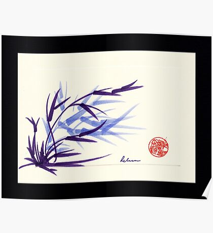 Huntington Gardens Plein Air Bamboo Drawing #2 Poster