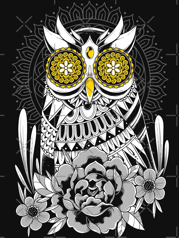 Golden Eyes Owl by GODZILLARGE