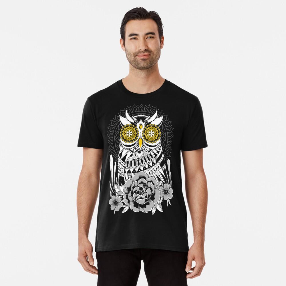 Golden Eyes Owl Premium T-Shirt