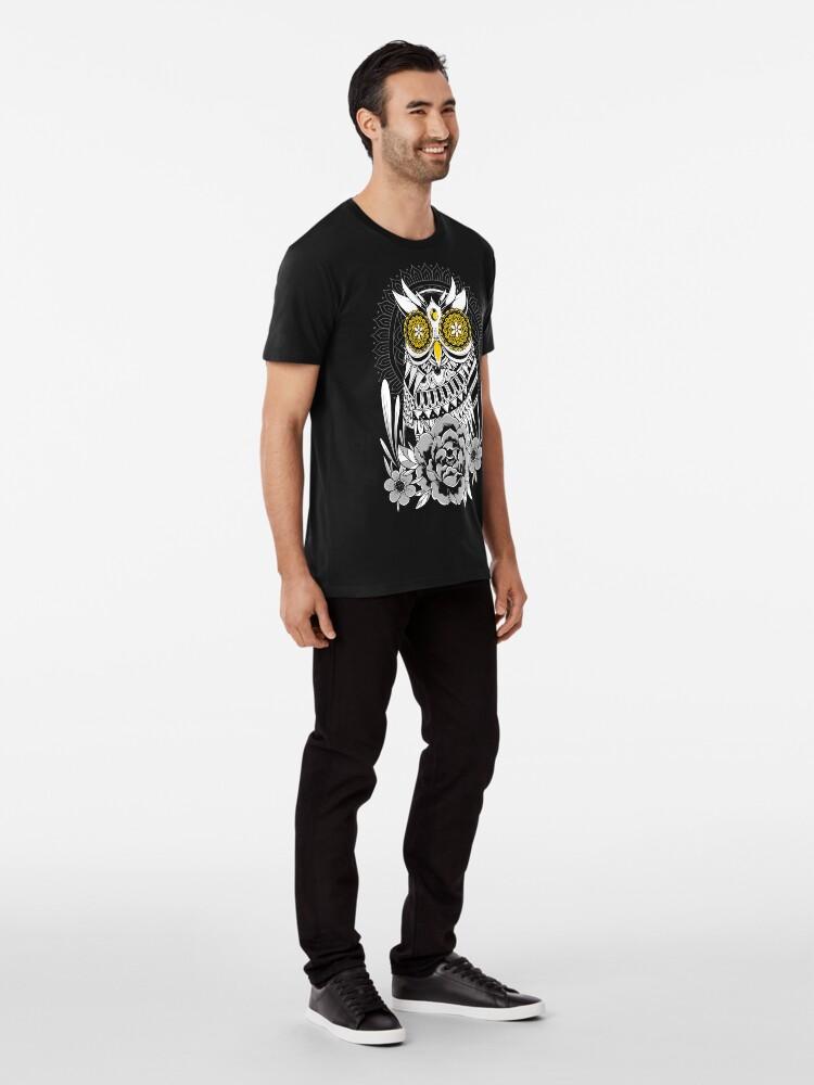 Alternate view of Golden Eyes Owl Premium T-Shirt