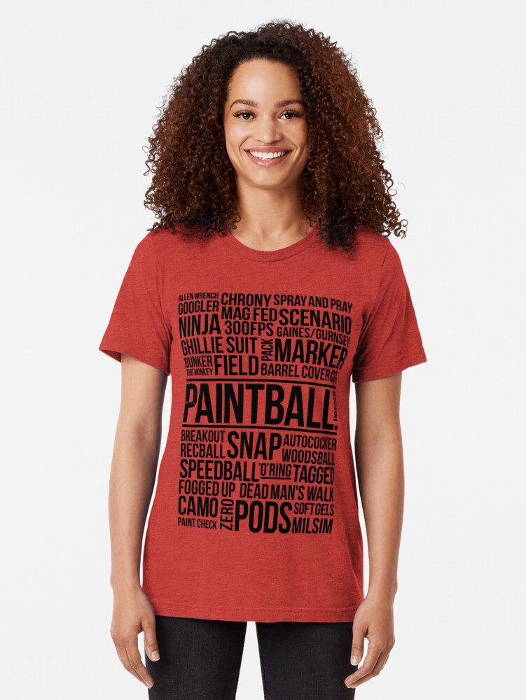 Alternate view of World of Paintball! Tri-blend T-Shirt