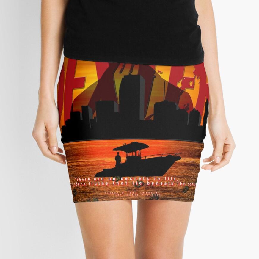 DEXTER - Boat On The Water. Mini Skirt