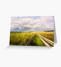 A Summers Day On The South Downs Greeting Card