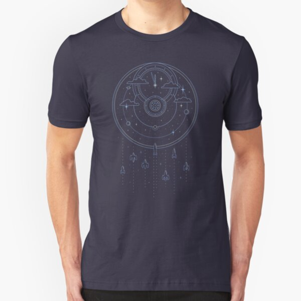 Mission through Time and Space Slim Fit T-Shirt