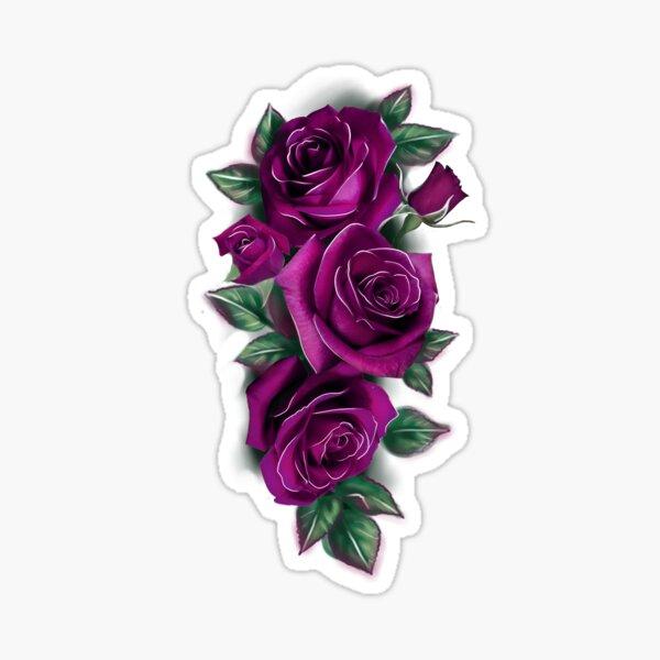 Gothic Dark Purple Roses Sticker