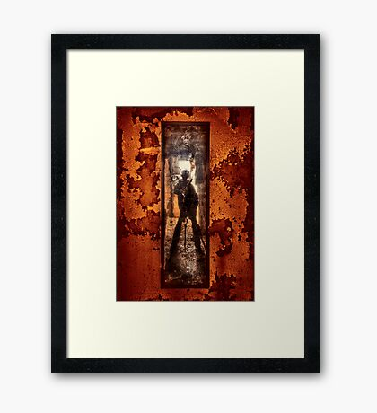 You Shot A Hole In My Soul Framed Print