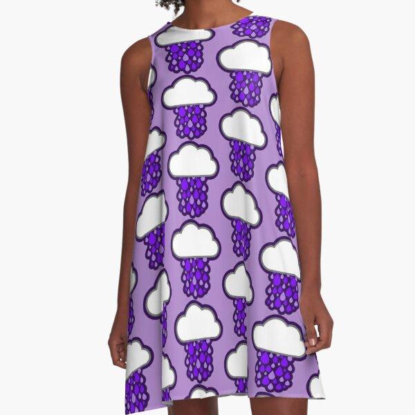 Purple Rain A-Line Dress