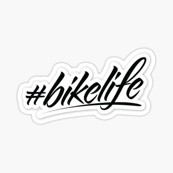 Tee shirt bike life Sticker