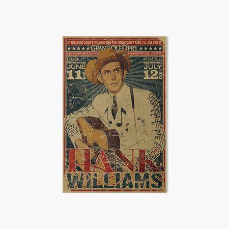 Hank Williams Vintage Grand Ole Opry Concert Poster Art Board Print