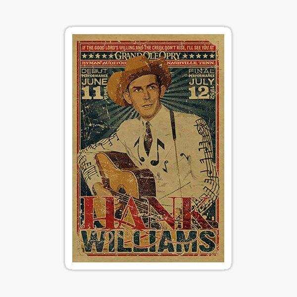 Hank Williams Vintage Grand Ole Opry Concert Poster Sticker