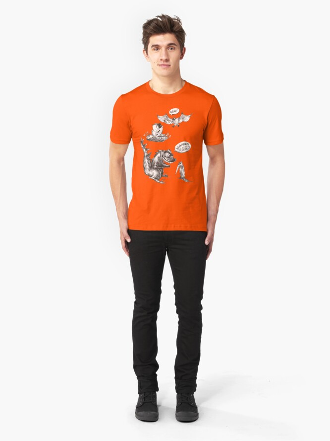 Alternate view of Little Dino Growing Up Slim Fit T-Shirt
