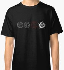 Supernatural Protection (Light Symbols) Classic T-Shirt