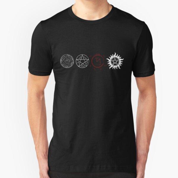Supernatural Protection (Light Symbols) Slim Fit T-Shirt
