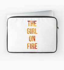 The Girl on Fire Laptop Sleeve