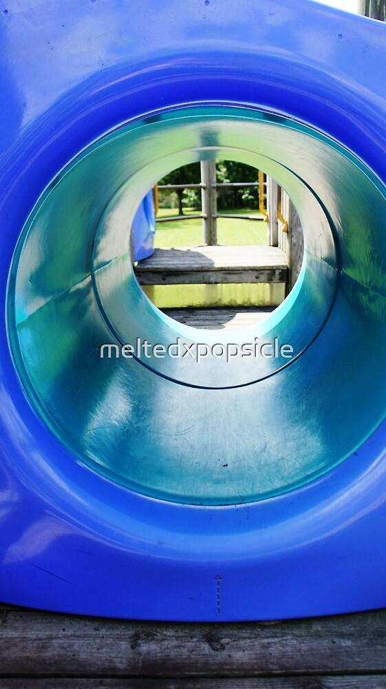 Blue Tunnel by Jessica Liatys
