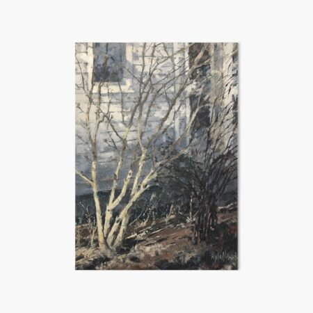 Winter Shrubs Art Board Print